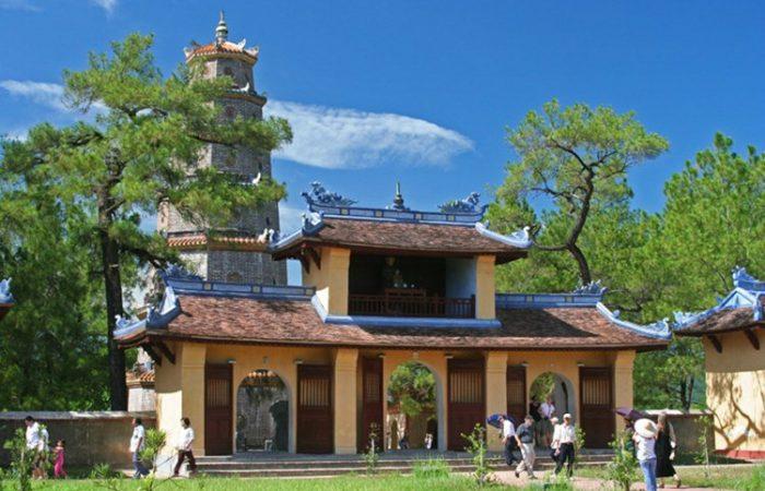 thien mu pagoda in Hue Vietnam
