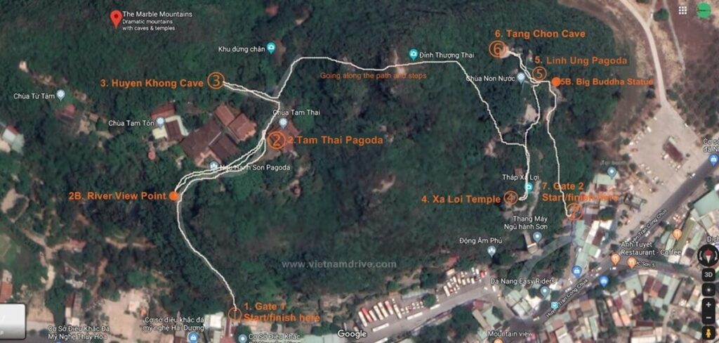 Thuy Son Map of Marble Mountains