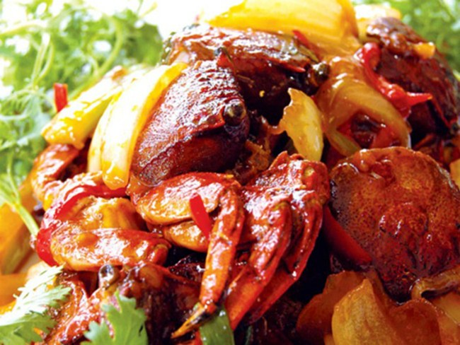 Chu U Crabs roasted with tamarind. Photo byOdacsan