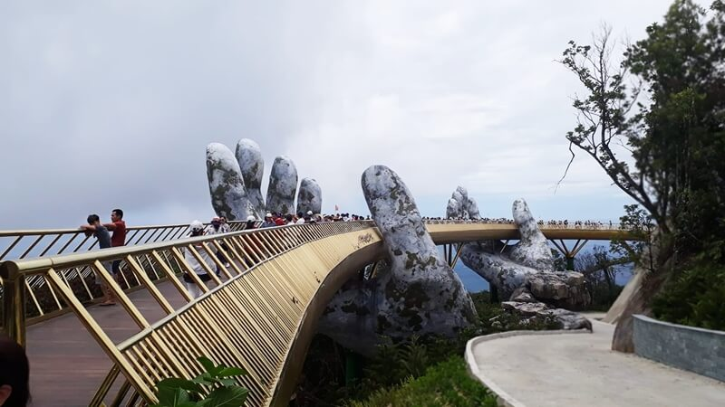 Golden Bridge in Ba Na Hills