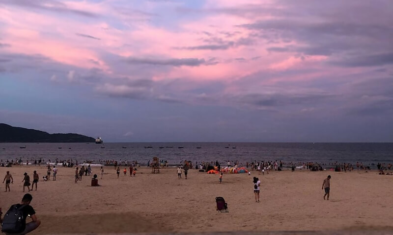 Sunset at My Khe Beach