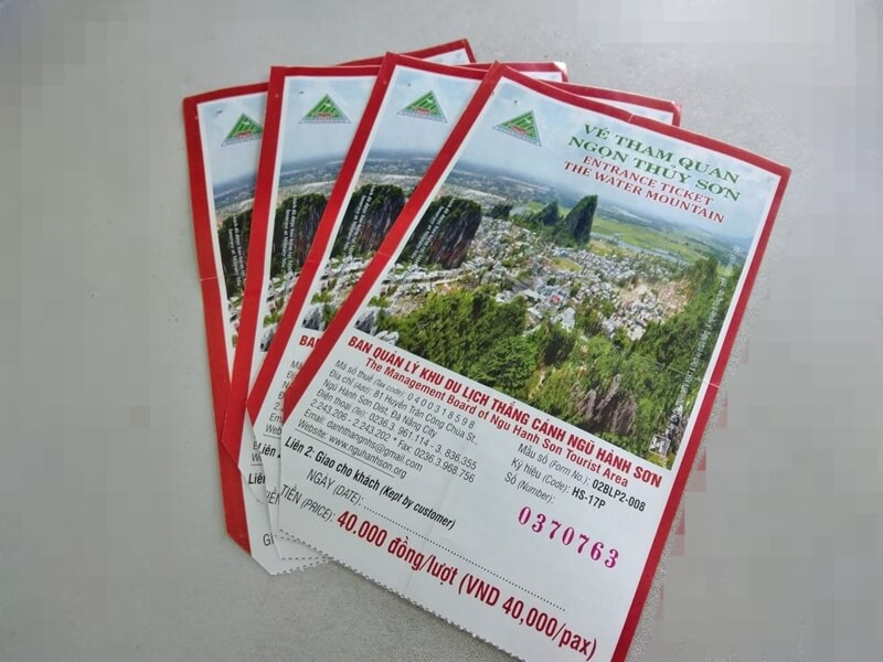 Tickets of the Marble Mountains