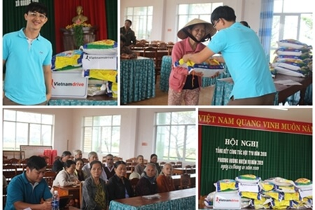 Vietnamdrive donates rice for the poor