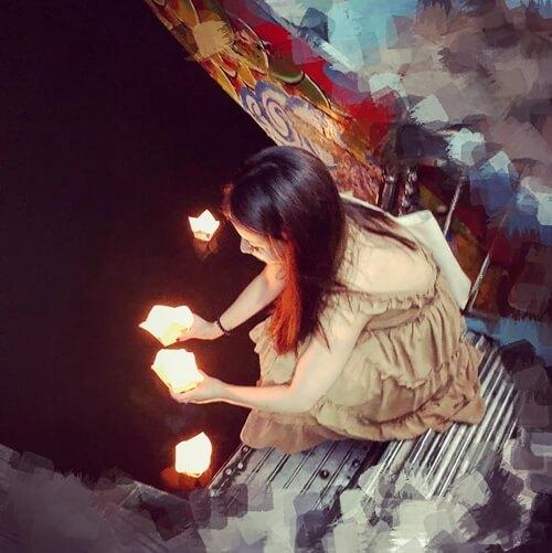 Lotus lantern on the Perfume River