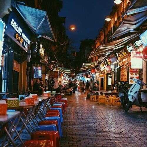 Ta Hien Street Hanoi
