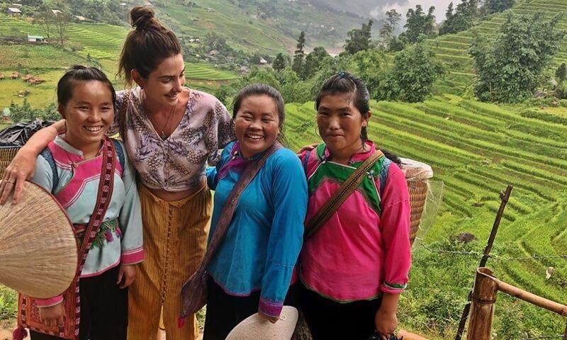 English People traveling in Vietnam