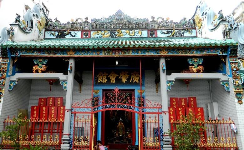 Thien Hau Old Temple in HCM Vietnam