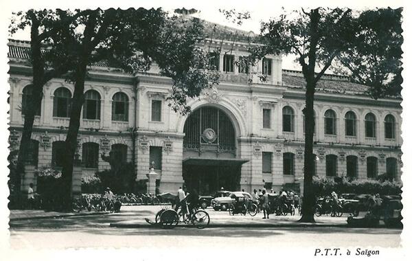 Saigon Post Office in 1950s