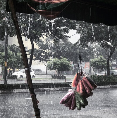 A rainy day in Saigon