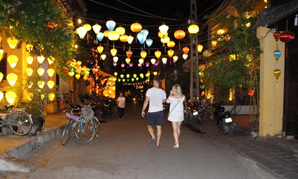 Walking in Hoi An Old Town
