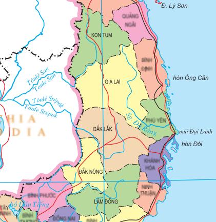 Central Highlands Vietnam Map