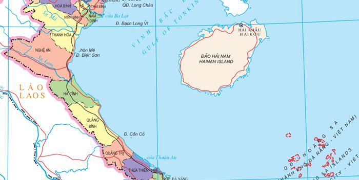 north central vietnam map