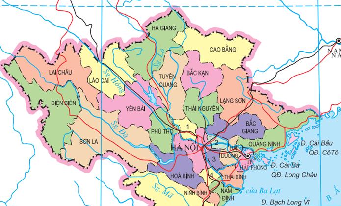 north vietnam map