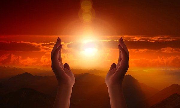 Sunlight for praying